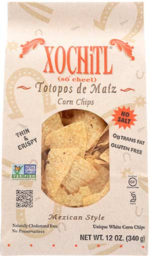 Xochitl Corn Chips No-Salt-12oz-1910 Distribution